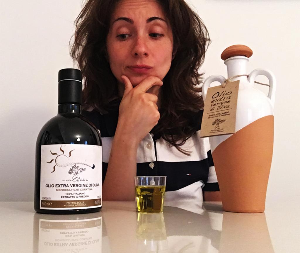 Bottiglia in vetro e ceramica per olio EVO